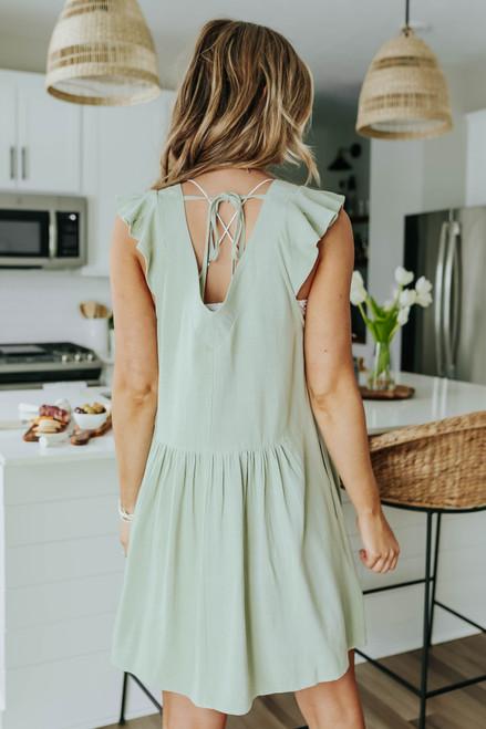 Catalina Brunch V-Neck Ruffle Detail Dress