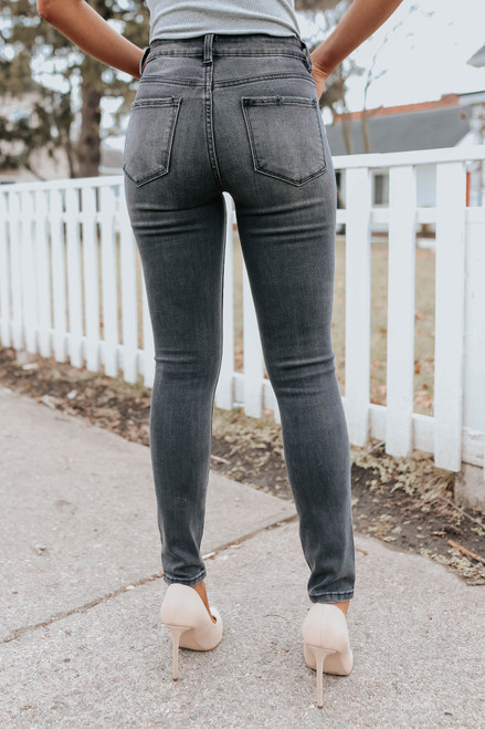 Audrina High Rise Distressed Skinny Jeans