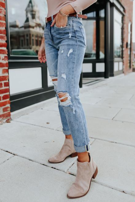 Best Coast Distressed Boyfriend Jeans