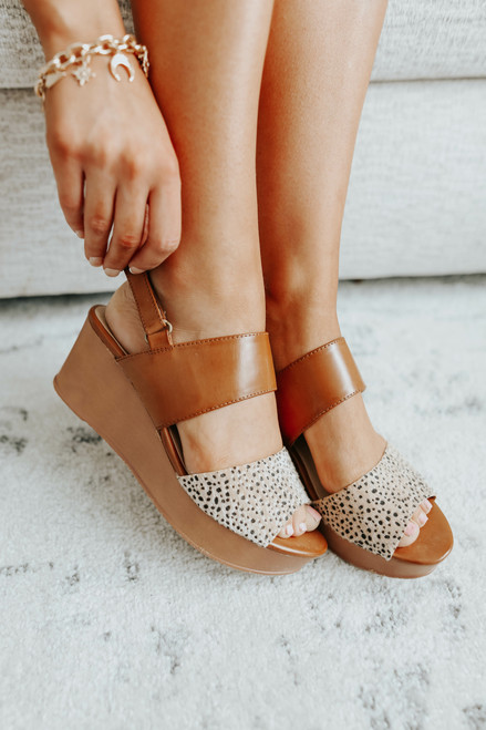 CL by Laundry Christel Leopard Contrast Wedges