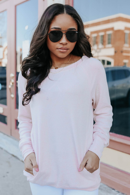 Out of Office Brushed Pink Pullover