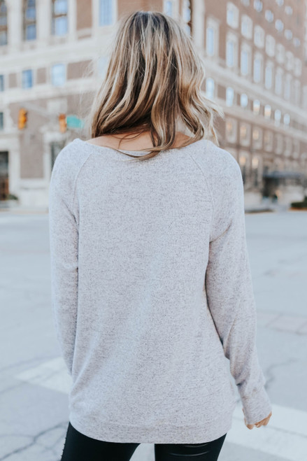 Out of Office Brushed Grey Pullover
