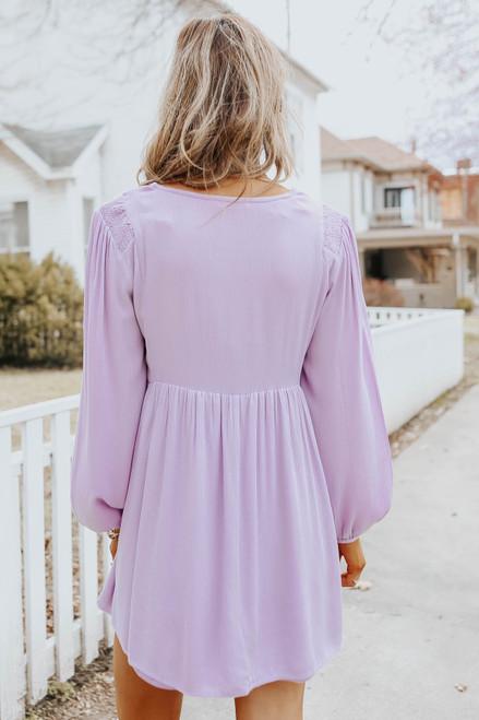 Fairytale Charm Lilac Babydoll Dress