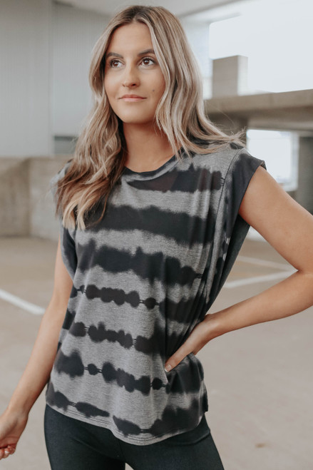 Set the Pace Tie Dye Muscle Tee