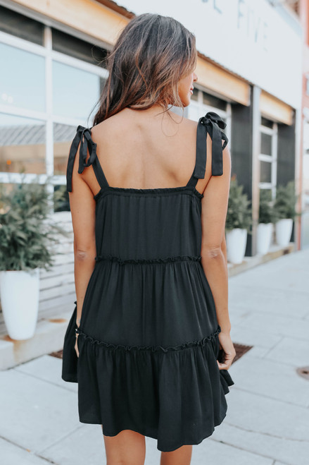 Blaire Tie Strap Ruffle Tiered Dress