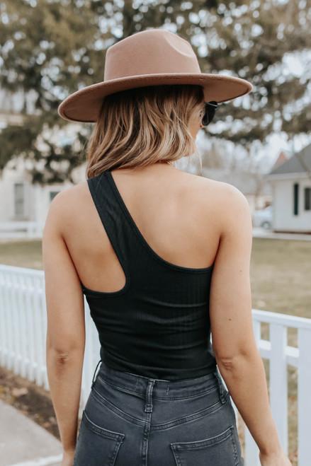 Outspoken One Shoulder Ribbed Bodysuit