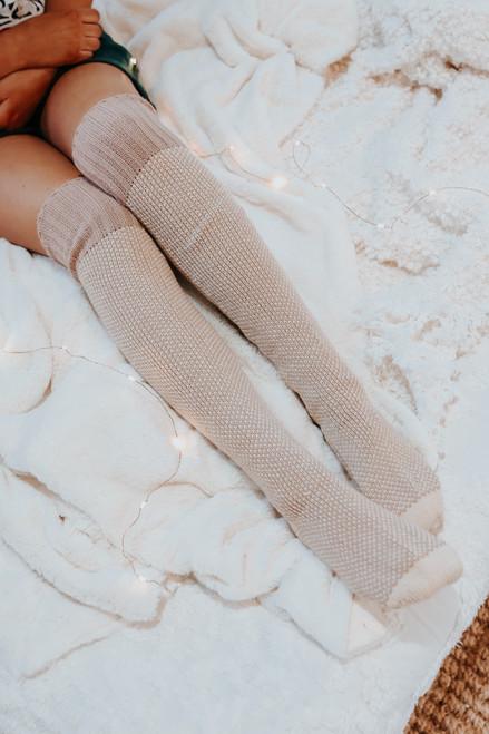 Reese Knee High Lounge Socks