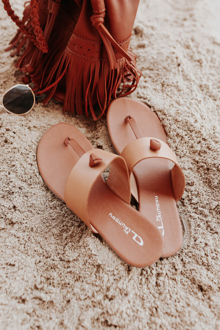 CL By Laundry Admire Natural Leather Sandals