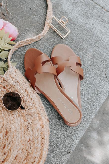 CL By Laundry Artist Cognac Leather Sandals
