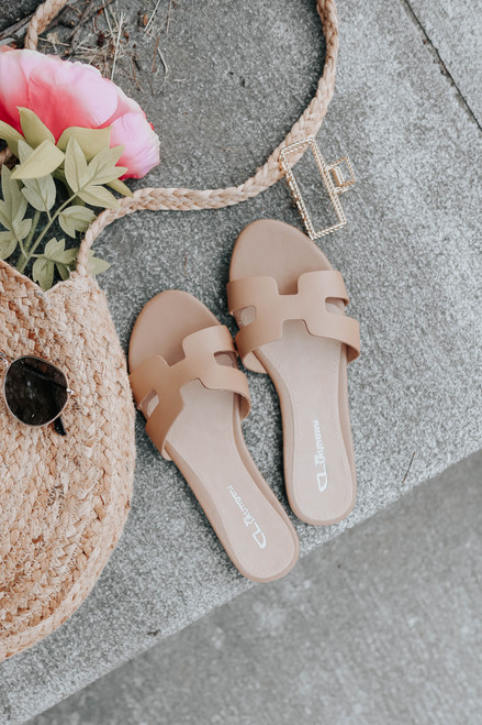 CL By Laundry Artist Natural Leather Sandals