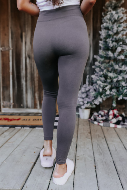 Fleece Lined Charcoal Leggings