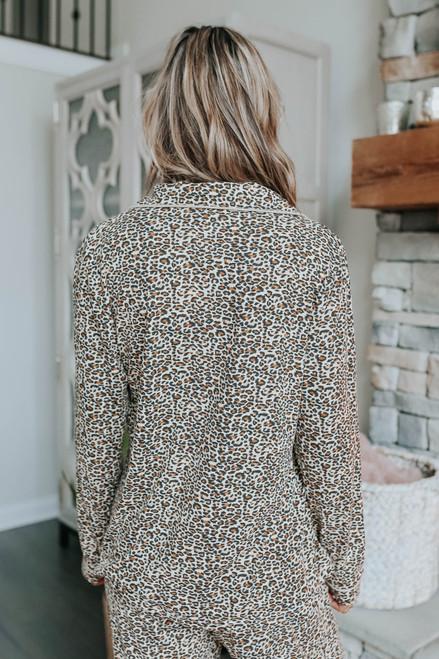 Queen of Cozy Leopard Pajama Set
