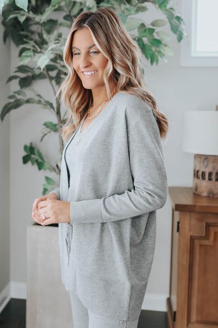 Warm Me Up Grey 3 Piece Sweater Set