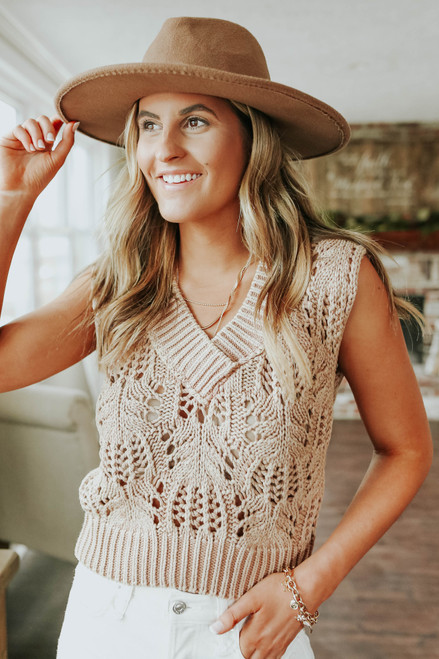 Free People Orchid Pointelle Vest