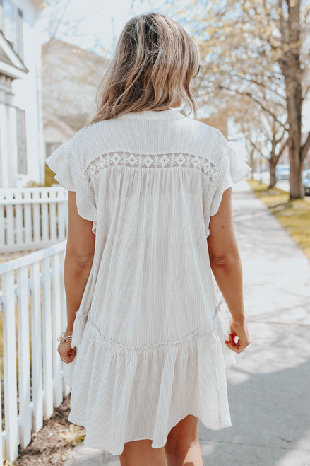 Free People Baby Blue Cream Combo Tunic
