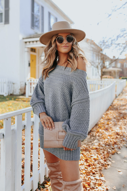 Wrapped Up Sweater Dress