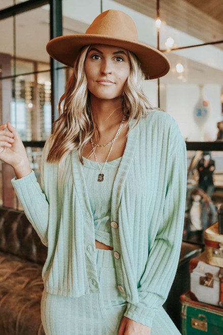 Desert Muse Button Down Ribbed Cardigan