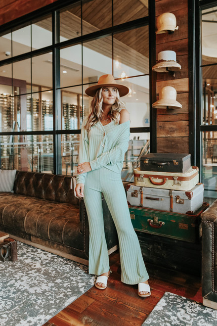 Desert Muse Ribbed Flare Pants