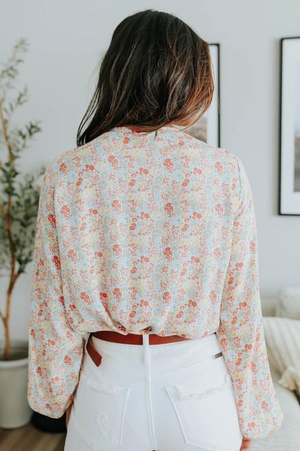 First Bloom V-Neck Floral Bodysuit