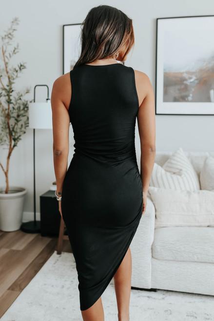 Parker Ruched Side Asymmetrical Dress