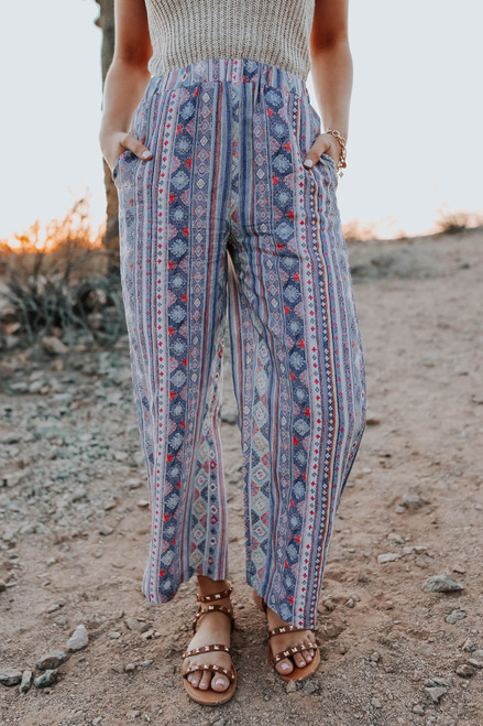 Atlantis Aztec Wide Leg Pants