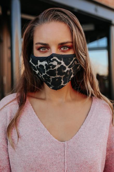 Contrast Leopard Face Mask