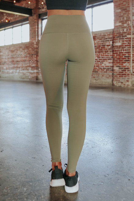 Run With It Olive Leggings