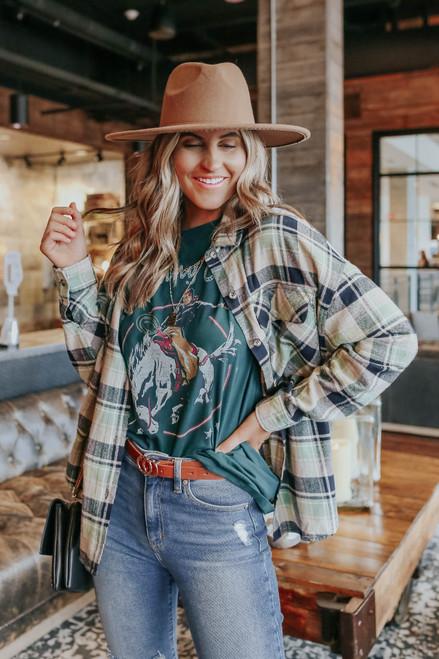 Tailgate Green Plaid Flannel Shirt