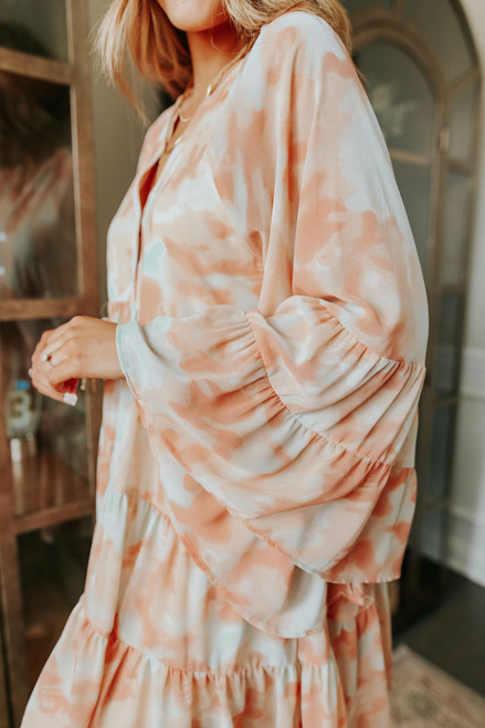 Calla Tie Dye Tiered Babydoll Dress