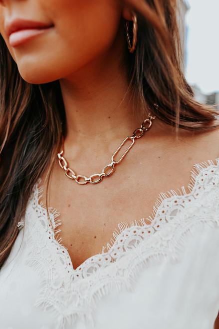 Emma Linked Gold Necklace