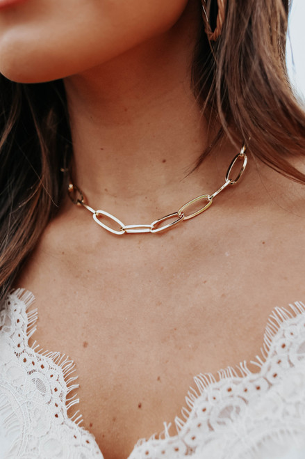 Serena Linked Gold Necklace