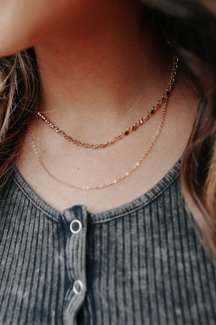Honeycomb Layered Gold Necklace