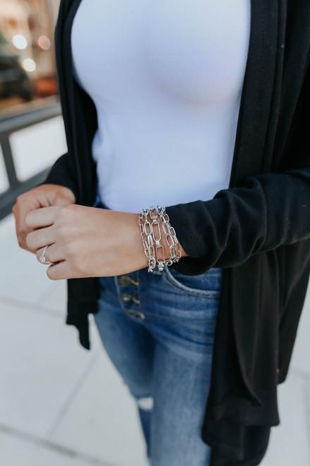 Melody Silver Linked Bracelet