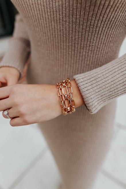 Melody Gold Linked Bracelet