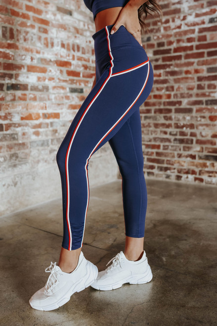 Free People You're a Peach 7/8 Double Pop Leggings