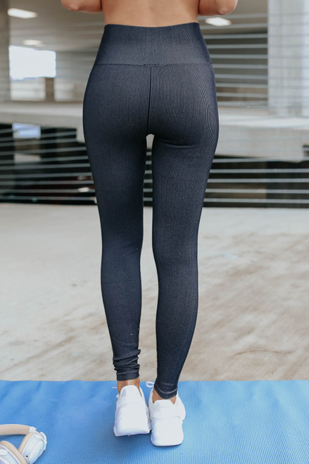 Olympia Vintage Wash Ribbed Leggings
