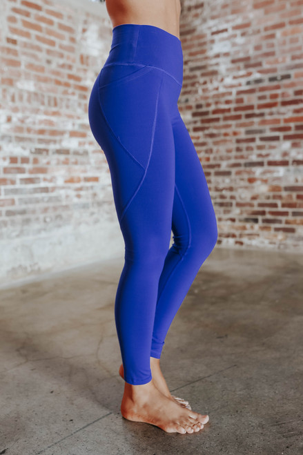 Fresh Air Royal Blue High Waist Leggings