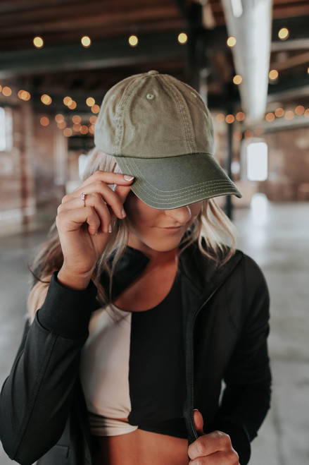 Covering My Bases Green Baseball Hat