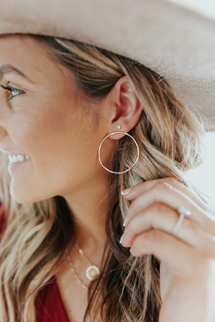 Textured Gold Hoop Earrings