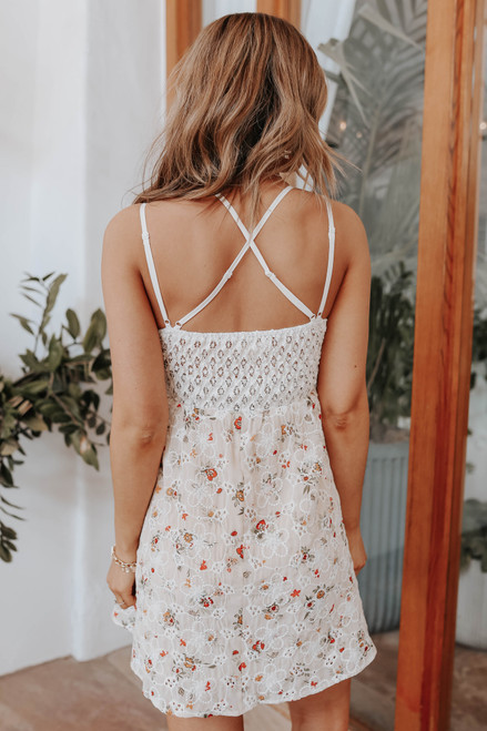 Everlasting Lace Floral Eyelet Dress