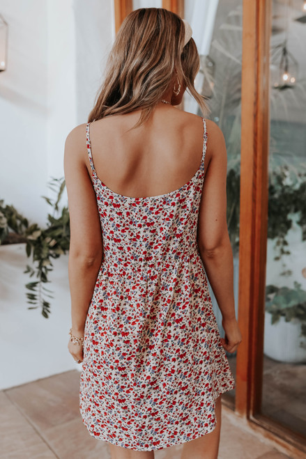 Desert Moon Floral Babydoll Dress