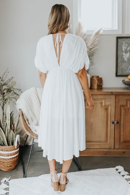 Dolman Ivory Midi Dress