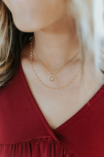 Safe Haven Layered Gold Necklace