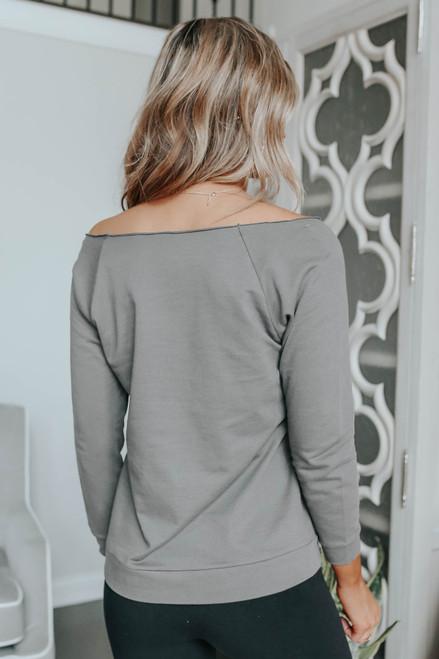 Off the Shoulder Love Sweatshirt