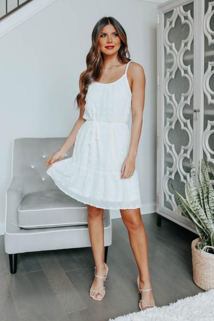 Struck by Love White Pom Dress