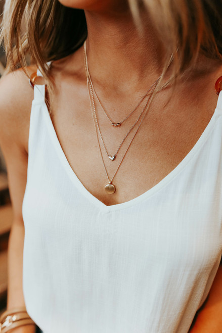 Layered Gold Heart Necklace