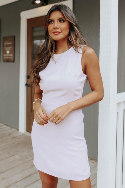 Valencia Sleeveless Lilac Grey Sheath Dress
