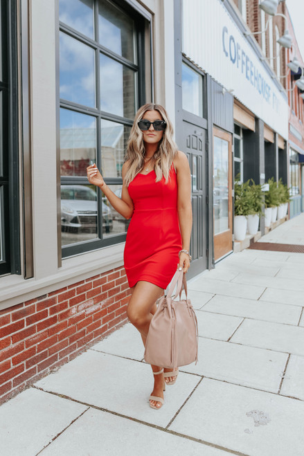 Love Game Sweetheart Red Bodycon Dress