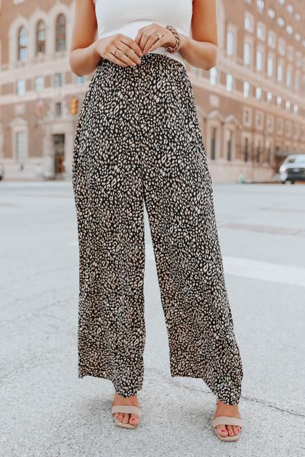 Wild One Leopard Palazzo Pants