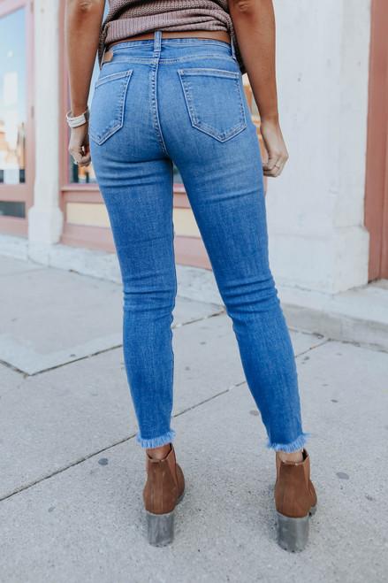 Beach Bound Medium Wash Distressed Skinny Jeans